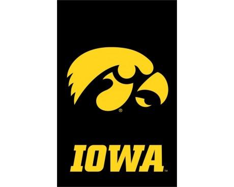 """Iowa Hawkeyes Garden Flag - 12X18"""" -CHOOSE OPTIONS"""