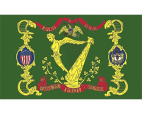 17th WI. Irish Brigade Regiment Flag - 3x5'
