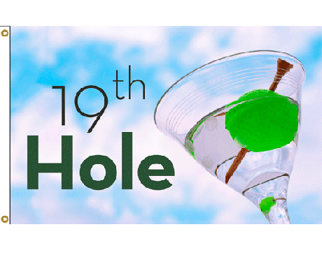 19th Hole Martini Flag