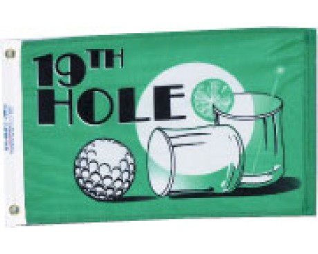 19th Hole Flag - 12x18""