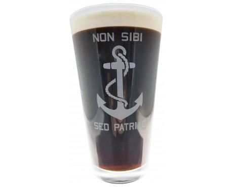 Navy Pint Glass