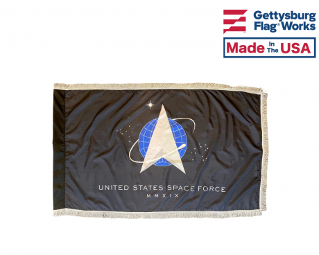 Official U.S. Space Force Flag - Formal Indoor and Parade Style