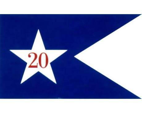 20th Corp HQ Guidon (1864) Flag - 3x5'