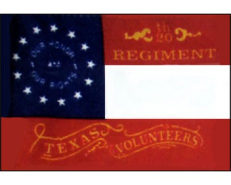 20th Texas 1864 Flag - 3x5'
