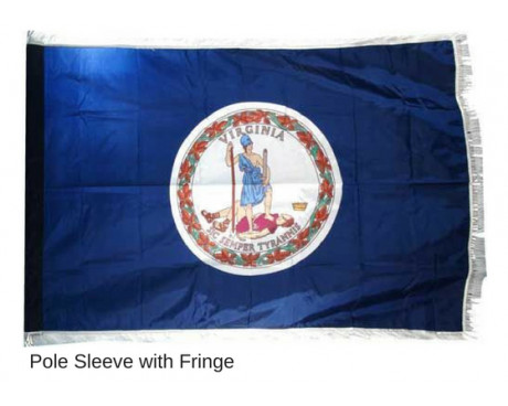 Virginia Indoor Flag (White Fringe)
