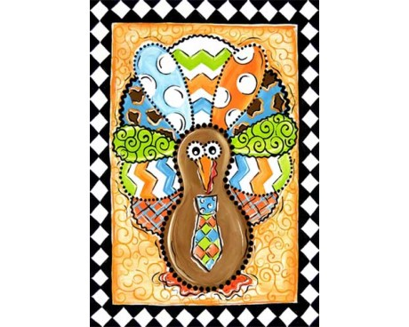 Patterned Turkey Garden Flag