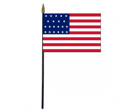 "American, 21 Stars Stick Flag - 4x6"""