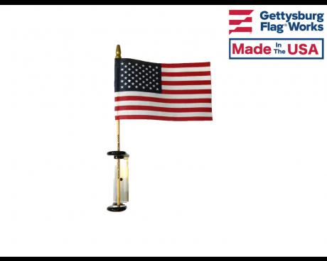 Aluminum Adhesive Stick Flag Holder
