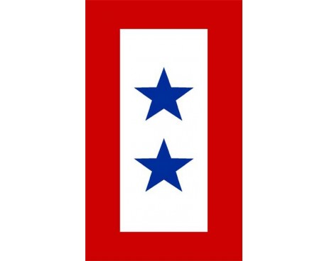 Service Star Sticker - 2 Blue Stars