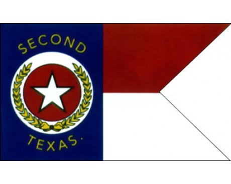2nd Texas Cavalry Guidon Flag - 3x5'