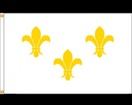 Fleur-de-lis Flag (White 3) - Choose Options