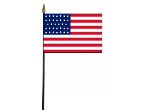 "American, 34 Stars Stick Flag - 4x6"""