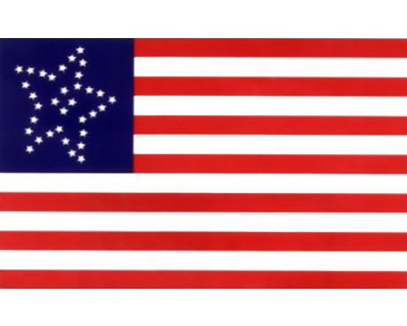 34 Star Great Flower US Civilian Flag - 3x5'