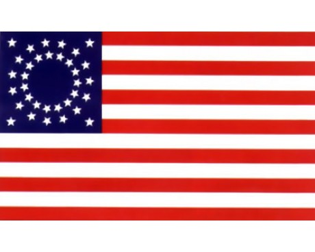 34 Star Shawbaker US Civilian Flag (1862) - 3x5'