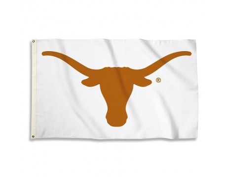 Texas Longhorns Outdoor Flag - WHITE