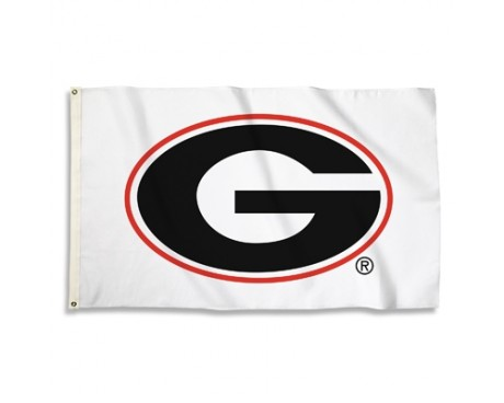 Georgia Bulldogs Outdoor Flag -White