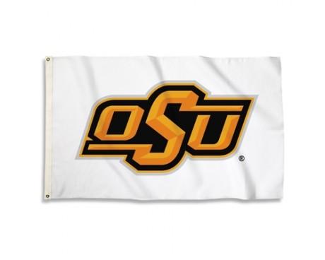 Oklahoma State Cowboys Outdoor Flag - White