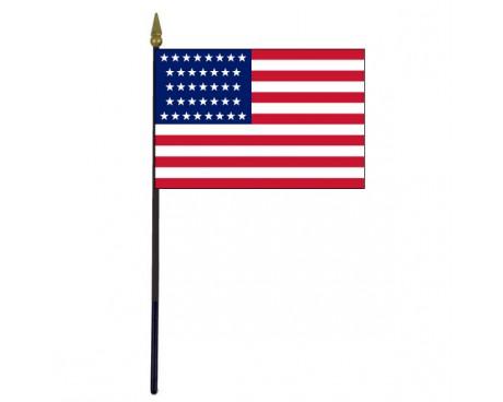 "American, 37 Stars Stick Flag - 4x6"""