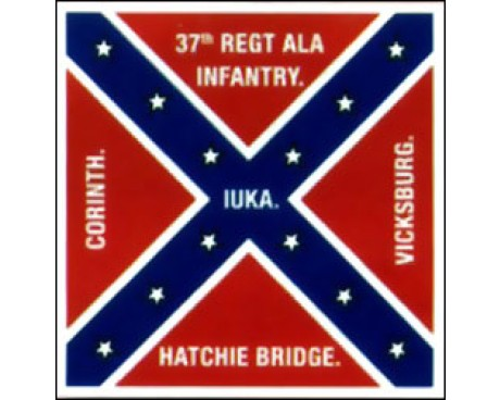 37th Alabama Infantry Regiment Flag - 4x4'