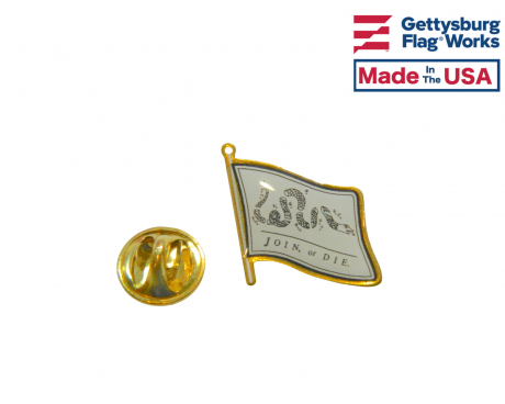 Join or Die Lapel Pin (Single Waving Flag)