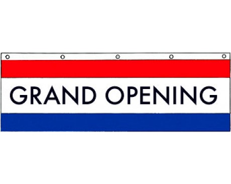 Grand Opening Banner - 3x10'