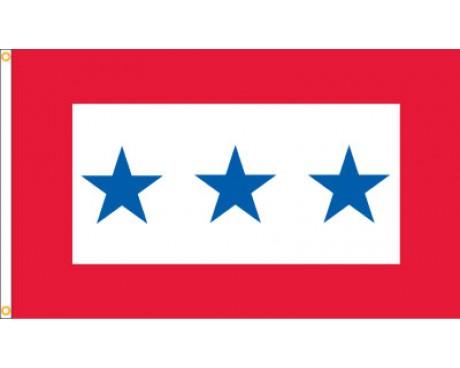 Service Star Flag (3 Blue Stars) - 3x5'