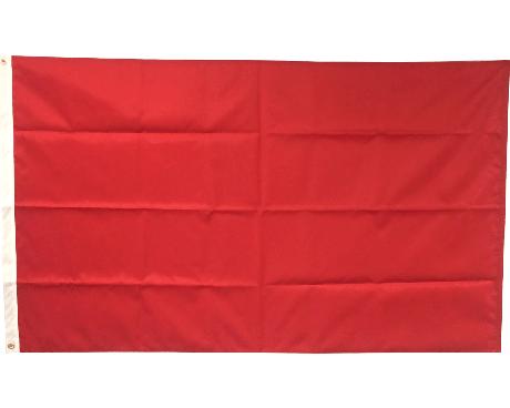 Blank Nylon Flag, Header & Grommets, Canada Red - 3x5'