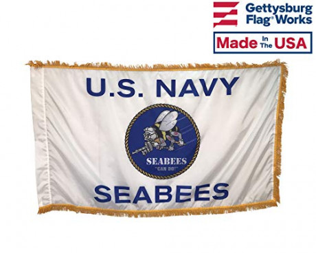 3x5' US Navy Seabees Indoor Flag