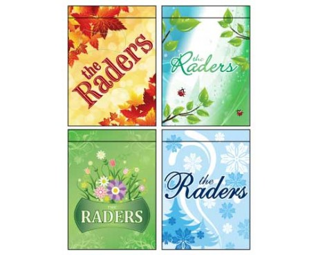 4 Seasons Family Garden Flag Set