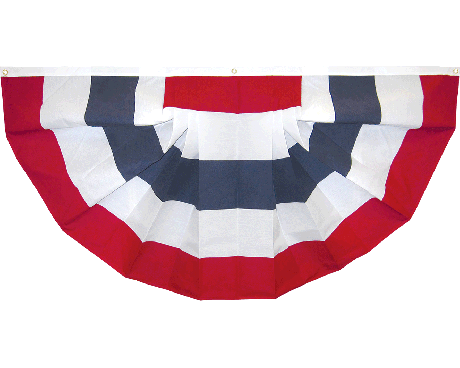 Patriotic Pleated Fan (No Stars) Cotton