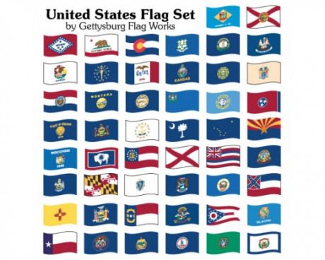 State Flag Set-Outdoor/2-Ply Polyester