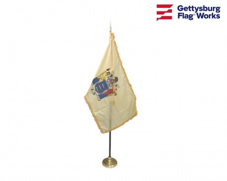 New Jersey Indoor Flag Set-3x5