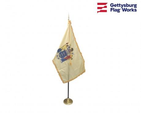 New Jersey Indoor Flag Set-3x5