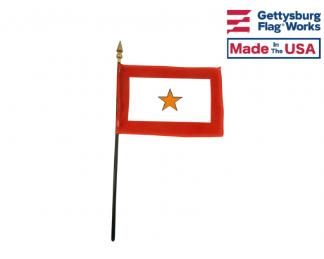 Gold Star Service Stick Flag