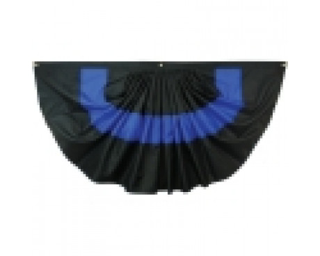Pleated Fan Police Thin Blue Line-3x6'