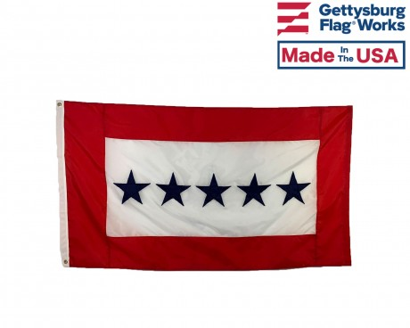Service Star Flag (5 Blue Stars) - 3x5'