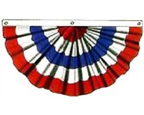 Patriotic Pleated Fan (No Stars)