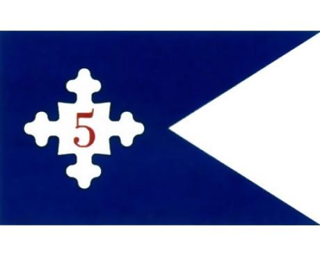 5th Corp HQ Guidon Flag (1861) - 3x5'