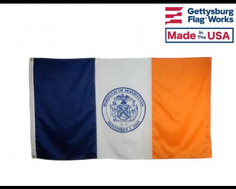 Manhattan Borough New York City Flag - Choose Options