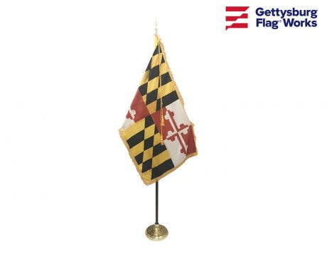 Maryland Indoor Flag Set-3x5