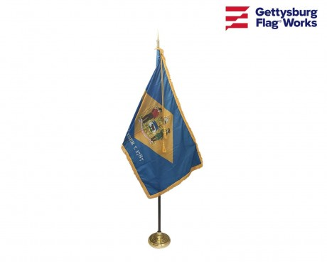 Delaware Indoor Flag Set-3x5