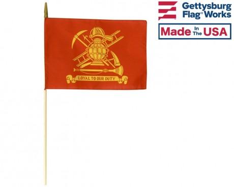 Patriotic Fire Fighter /& Rescue Truck American flag decorative Garden flag