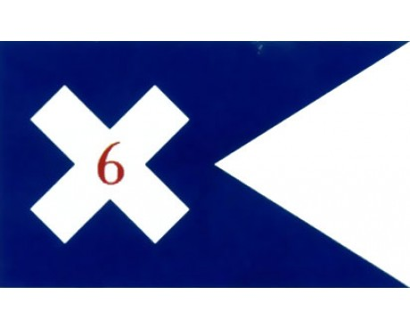 6th Corp HQ Guidon Flag (1864) - 3x5'