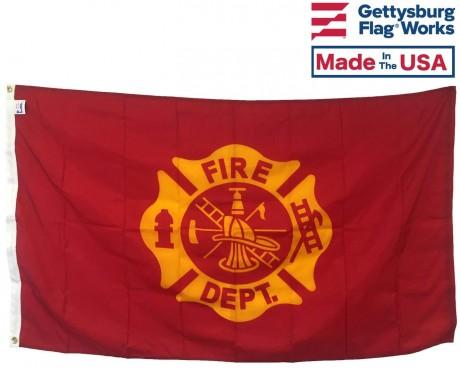 Fire Department Maltese Cross Flag - 3x5'