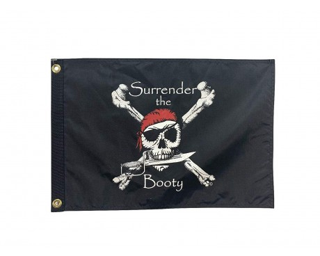 Surrender The Booty Flag - Black/Red