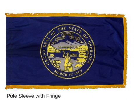 Nebraska Indoor Flag Fringe