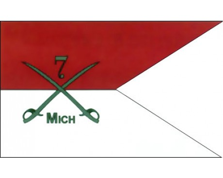 7th MI Cavalry Guidon Flag - 3x5'