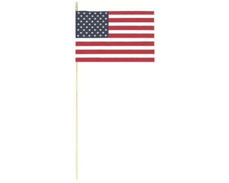 Cotton American Stick Flags