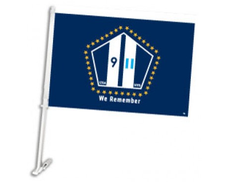 "NYS 911 ""We Remember"" Car Window Flag"