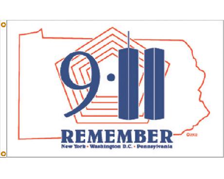 Remember 911 Flag - 3x5'
